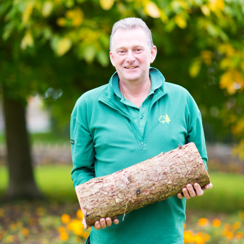 split Graham Jackson with the log used for for printing