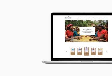 North Star Coffee Roasters Website Design