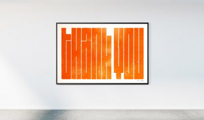 A Giant Thank You –Charity Prints